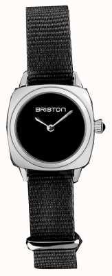 Briston | clubmaster dame | enkele zwarte NAVO-riem | zwarte wijzerplaat | 19924.S.M.1.NB - SINGLESTRAP