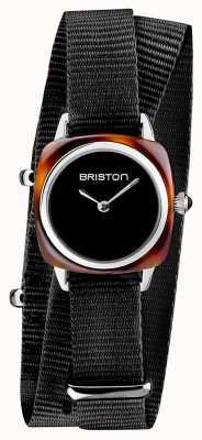 Briston   clubmaster dame   enkele zwarte nato   schildpadacetaat   19924.SA.T.1.NB