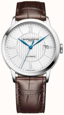 Baume & Mercier | heren classima | automatisch | bruin leer | zilveren wijzerplaat | M0A10214