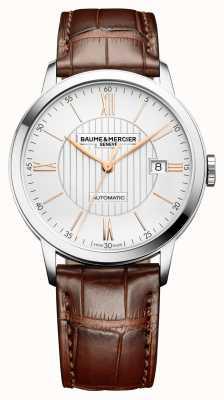 Baume & Mercier | heren classima | automatisch | bruin leer | zilveren wijzerplaat | M0A10263