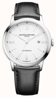 Baume & Mercier | heren classima | automatisch | zwart leer | witte wijzerplaat | M0A10332
