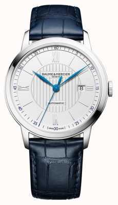 Baume & Mercier | heren classima | automatisch | blauw leer | zilveren wijzerplaat | M0A10333