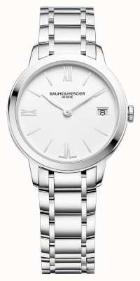 Baume & Mercier | classima voor dames | roestvrijstalen armband | witte wijzerplaat | BM0A10335