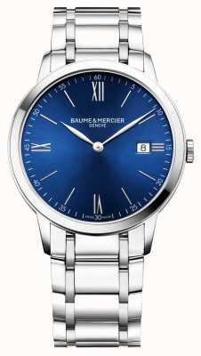 Baume & Mercier | heren classima | roestvrijstalen armband | blauwe wijzerplaat | M0A10382