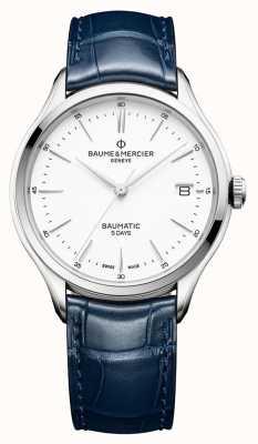 Baume & Mercier | heren clifton | baumatic | blauw leer | witte wijzerplaat | M0A10398
