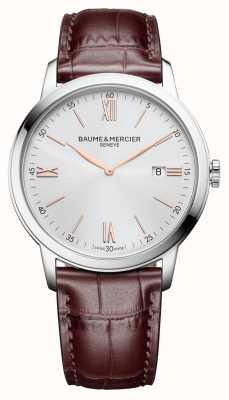Baume & Mercier | heren classima | lichtbruin leer | zilveren wijzerplaat | M0A10415