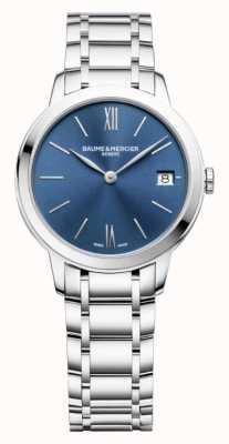 Baume & Mercier | classima voor dames | roestvrij staal | blauwe zonneknop BM0A10477