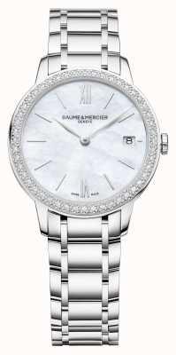 Baume & Mercier | classima voor dames | diamanten ring roestvrijstalen armband BM0A10478