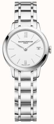 Baume & Mercier | classima voor dames | roestvrijstalen armband | witte wijzerplaat | BM0A10489