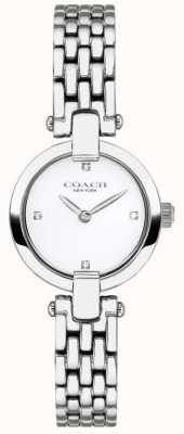 Coach | dames | chrystie | stalen armband | witte wijzerplaat | 14503390