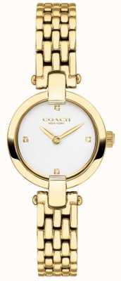 Coach | dames | chrystie | gouden pvd armband | witte wijzerplaat | 14503391