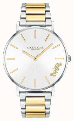 Coach | dames | perenwijn | tweekleurige armband | zilveren wijzerplaat | 14503347
