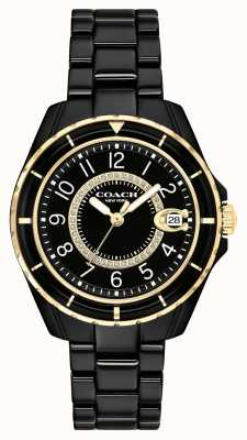 Coach | dames | preston | zwarte keramische armband | zwarte wijzerplaat | 14503461