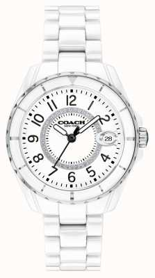 Coach | dames | preston | witte keramische armband | witte wijzerplaat | 14503462