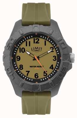 Limit | mens actieve volwassene analoog | groene rubberen riem | 5753.01
