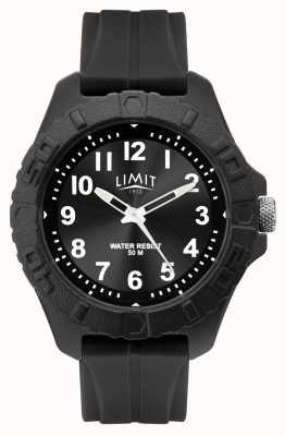 Limit | mens actieve volwassene analoog | zwarte rubberen riem | 5754.01