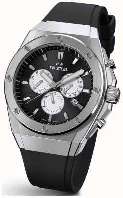 TW Steel | ceo tech | beperkte oplage | chronograaf | zwart rubber | CE4041
