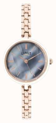 Limit | womens rose gouden armband | blauwe wijzerplaat | 60064.01