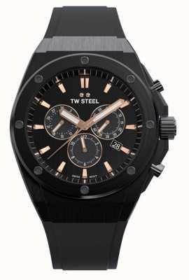 TW Steel | ceo tech | beperkte oplage | chronograaf | zwart rubber | CE4044