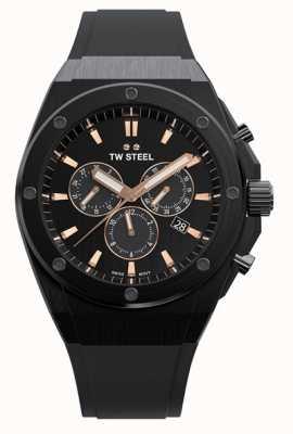 TW Steel   ceo tech   beperkte oplage   chronograaf   zwart rubber   CE4044