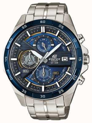 Casio | bouwwerk chronograaf | roestvrij staal | blauwe wijzerplaat | EFR-556DB-2AVUEF