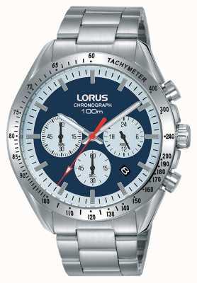 Lorus | heren chronograaf | roestvrij stalen armband | blauwe wijzerplaat | RT339HX9