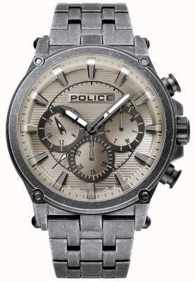 Police | mens taman | roestvrijstalen armband | bronskleurige wijzerplaat 15920JSQU/20M