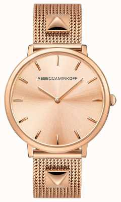 Rebecca Minkoff Dames major | rosegoud verguld gaas | rose gouden wijzerplaat | 2200003