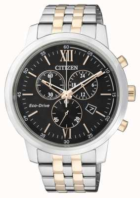 Citizen | mens eco-drive chronograaf | roestvrijstalen band | AT2304-50E