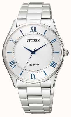 Citizen | mens eco-drive | roestvrij stalen armband | zilveren wijzerplaat | BJ6480-51B