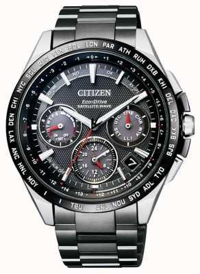 Citizen | mens eco-drive satellietgolf gps | dlc titanium armband CC9015-62E