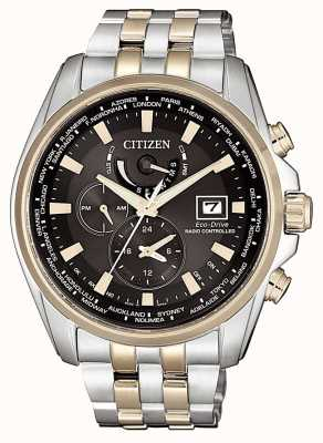 Citizen | mens eco-drive radiografisch bestuurbaar | tweekleurig verguld AT9038-53E