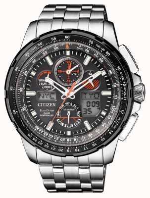 Citizen | mens eco-drive skyhawk op | titanium armband | zwarte wijzerplaat JY8069-88E