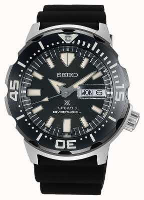 Seiko Prospex monster automatische duikers zwarte rubberen riem | SRPD27K1
