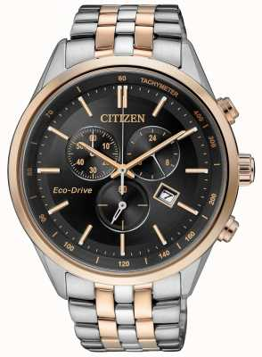 Citizen Eco-drive chronograaf heren 100 roestvrij stalen armband AT2146-59E