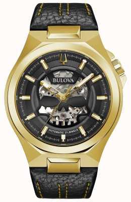 Bulova | maquina | heren | automatisch | zwarte lederen band | 97A148
