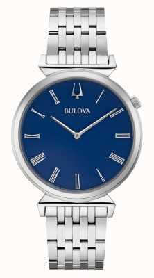 Bulova | mens | roestvrijstalen armband | blauwe wijzerplaat | 96A233