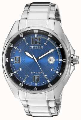 Citizen | mens eco-drive | blauwe wijzerplaat | roestvrij stalen armband | AW1510-54L