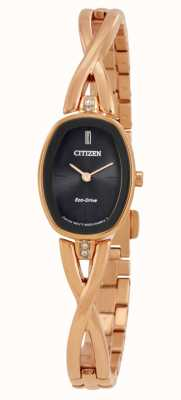 Citizen | dames silhouet eco-drive | goudkleurige armband | EX1413-55E
