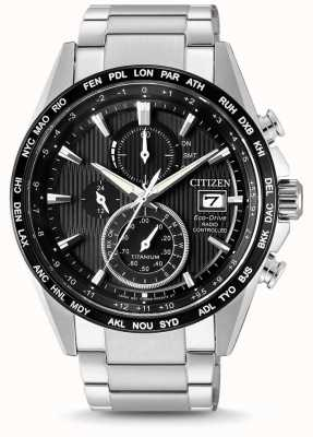 Citizen | mens eco-drive radiogolf h800 | titanium armband | AT8154-82E