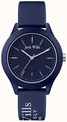 Jack Wills | de unie van vrouwen | marine wijzerplaat | navy siliconen riem | JW009NVBL