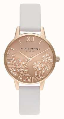 Olivia Burton | vrouwen | met juwelen getooid kant | steen blush lederen riem | OB16MV102