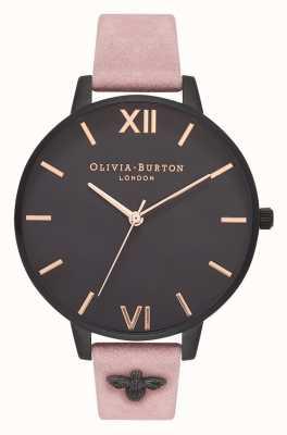 Olivia Burton | vrouwen | 3d bij | verfraaid roze suède riem | OB16ES09
