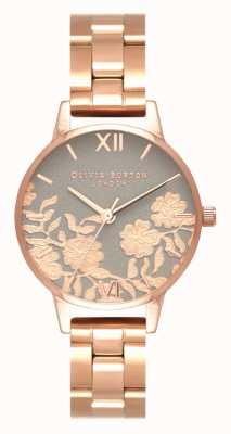 Olivia Burton | vrouwen | kantdetail bellen | rosegouden armband | OB16MV88