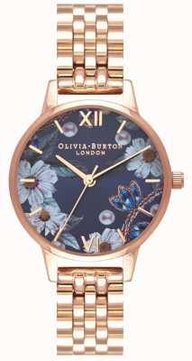 Olivia Burton | vrouwen | met juwelen getooide bloemen | rosegouden armband | OB16BF17