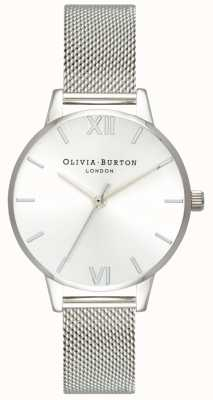 Olivia Burton | vrouwen | sunray midi-wijzerplaat stalen mesh armband | OB16MD86