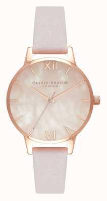 Olivia Burton | dames | half kostbaar | lederen band van bloesem | OB16SP02