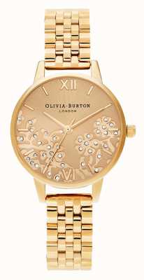 Olivia Burton | vrouwen | met juwelen getooid kant | gouden toonarmband OB16MV105