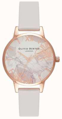 Olivia Burton | vrouwen | abstracte bloemen | blush lederen riem | OB16VM12