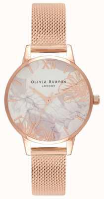 Olivia Burton | vrouwen | abstracte bloemen | rosegouden armband OB16VM11